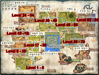 Rose Online Leveling Map