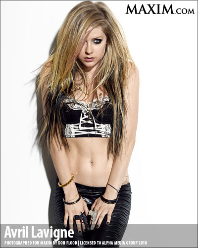 (Click on Pictures to Get Avril Lavigne Maxim Hot Scans HQ)