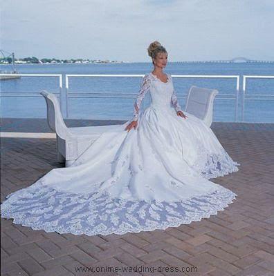 Peinados de novia para vestidos con manga