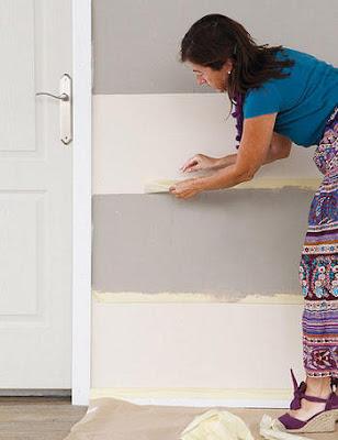 Paso a paso para pintar una pared a rayas decorando mejor - Pasos para pintar una pared ...