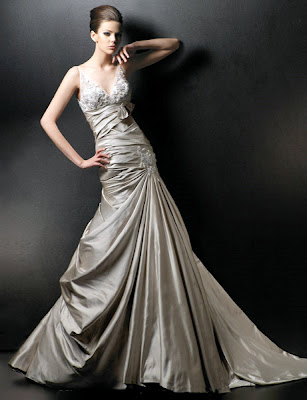 Many designers have shown that color in their wedding dresses that is