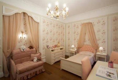 Dormitorios cl sicos muy elegantes para ni os decoracion - Dormitorios infantiles clasicos ...