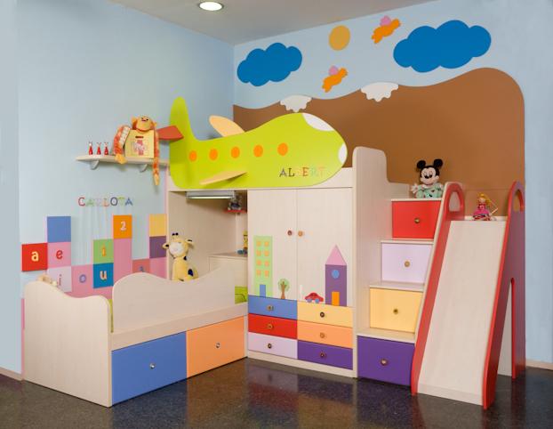 Color en las habitaciones para niños  Decoracion Endotcom
