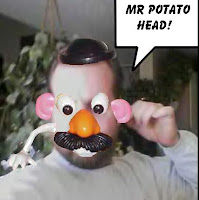 Mr. Potato Head has long been a man of eyes. He will be leading my new 0007 expedition across the Sarengetti Plains to find the lost Q