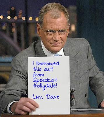 Look! It's David Letterman. Thanks Olga - you the BEST!!!!