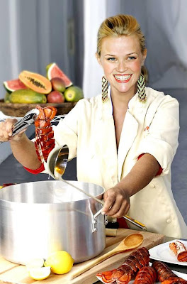 Reese witherspoon is now single , so make sure and eat lobster at her restaurant and smile a lot ...