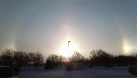 Sun Dog from Sub-zero Monday in Minnesota