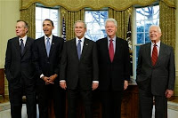 Presidential lunceon obama clinton bush carter