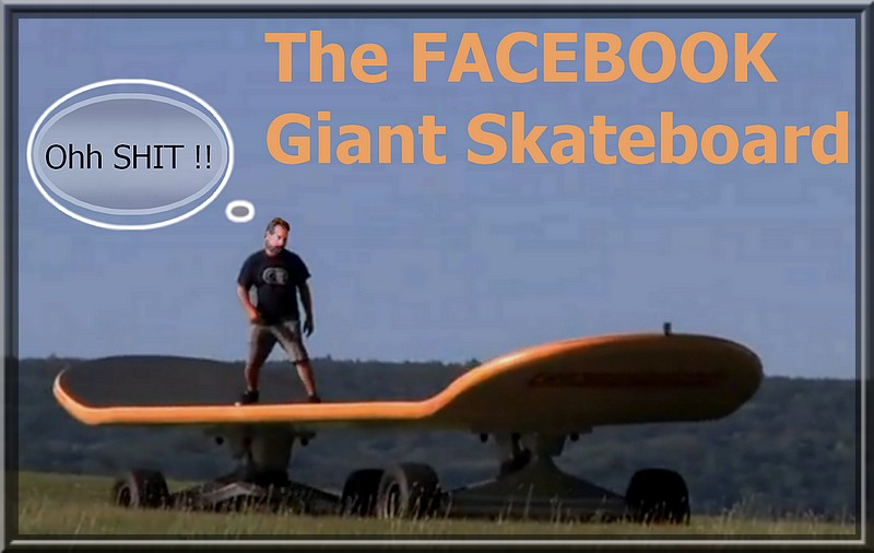 Giant Skateboard huge skate board massive skateboards