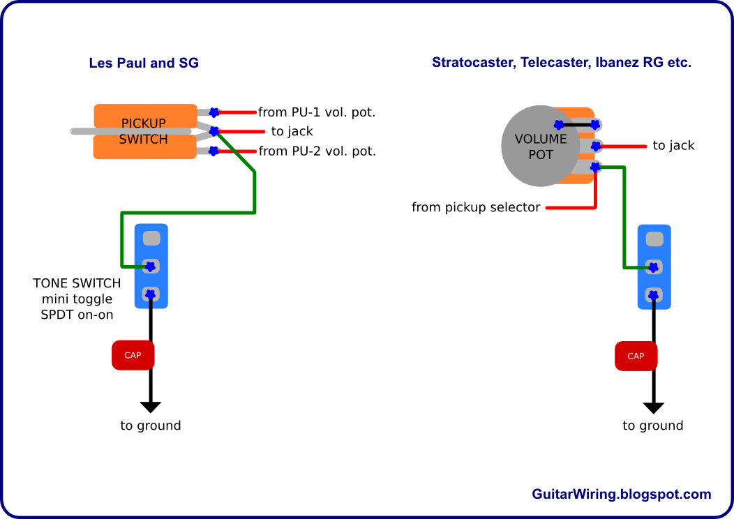 the guitar wiring blog diagrams and tips simple tone switch rh guitarwiring blogspot com Stratocaster Wiring Diagram with 5-Way Switch Guitar Phase Switch Wiring