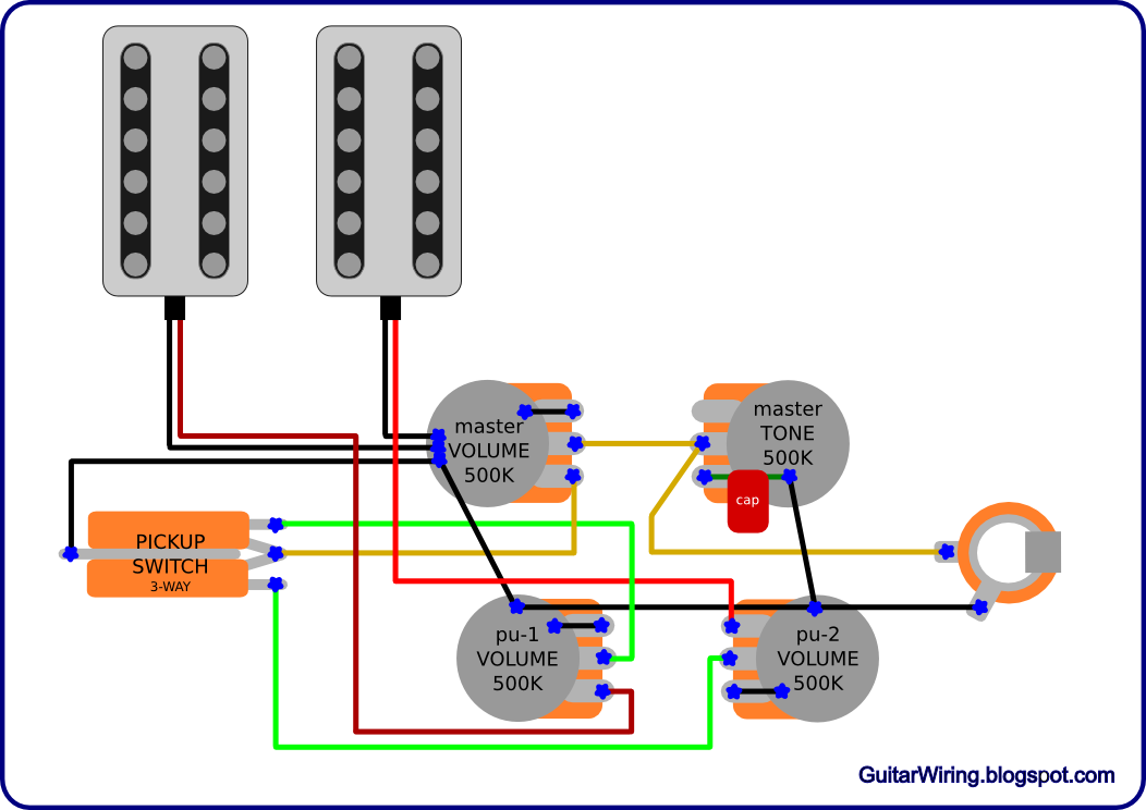 Wiring Diagram For Guitar Tone Control : Pickup guitar wiring diagrams get free image about