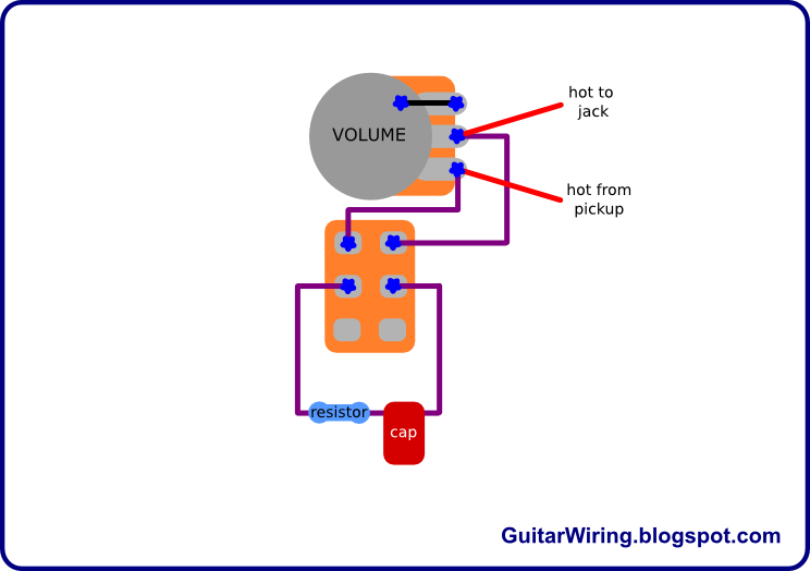 The Guitar Wiring Blog     diagrams    and tips  Treble Bleed Switch  Volume    Pot    Mod