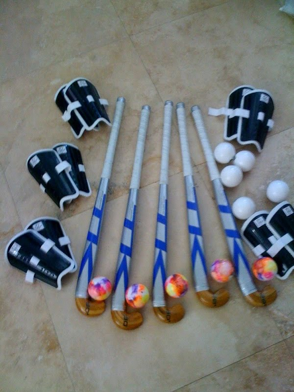 player sets!!! 5 sticks, shin guards, balls, and mouthguards! THANK