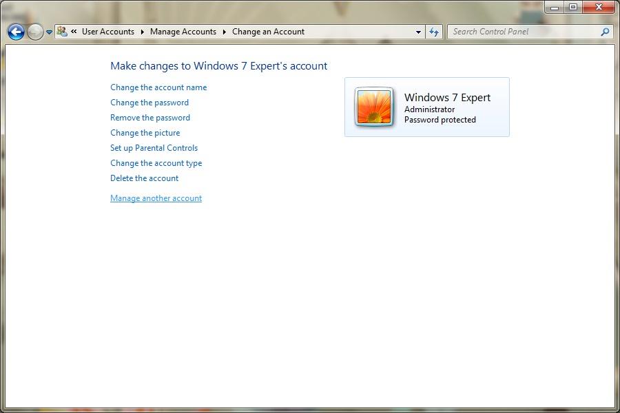 how to delete user profile in windows 7