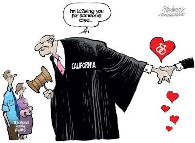 Political cartoon gay marriage