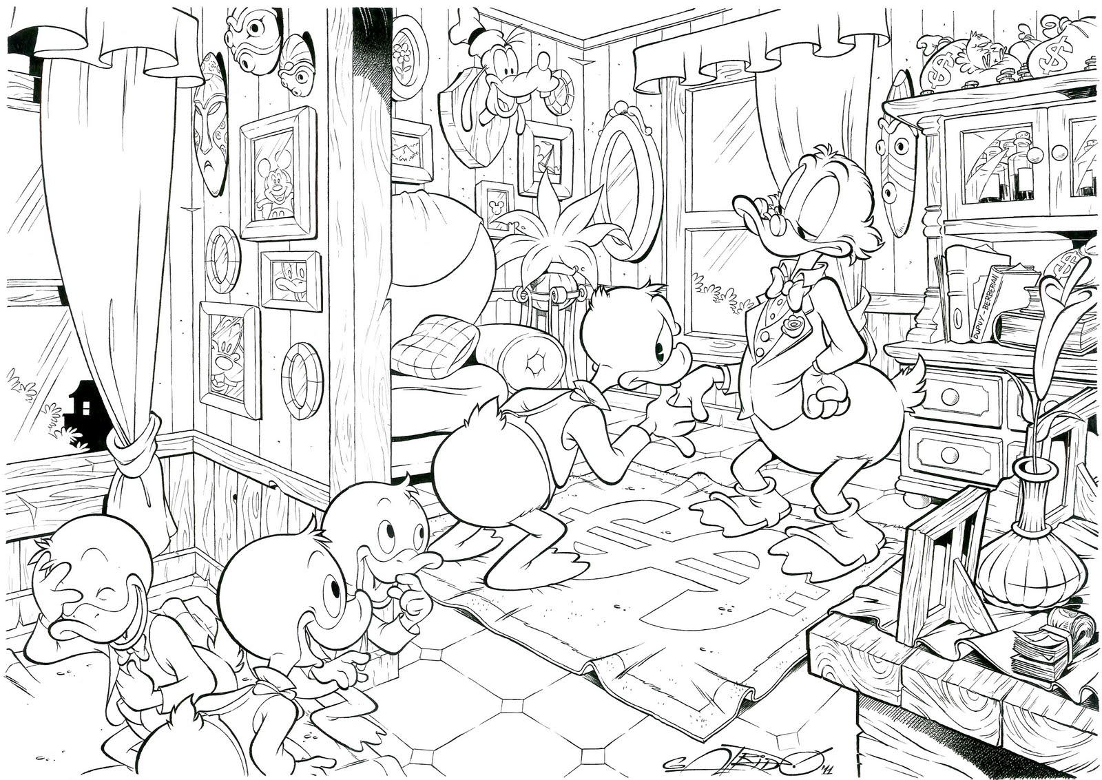 Coloring games donald duck - Donald Duck Coloring Pages