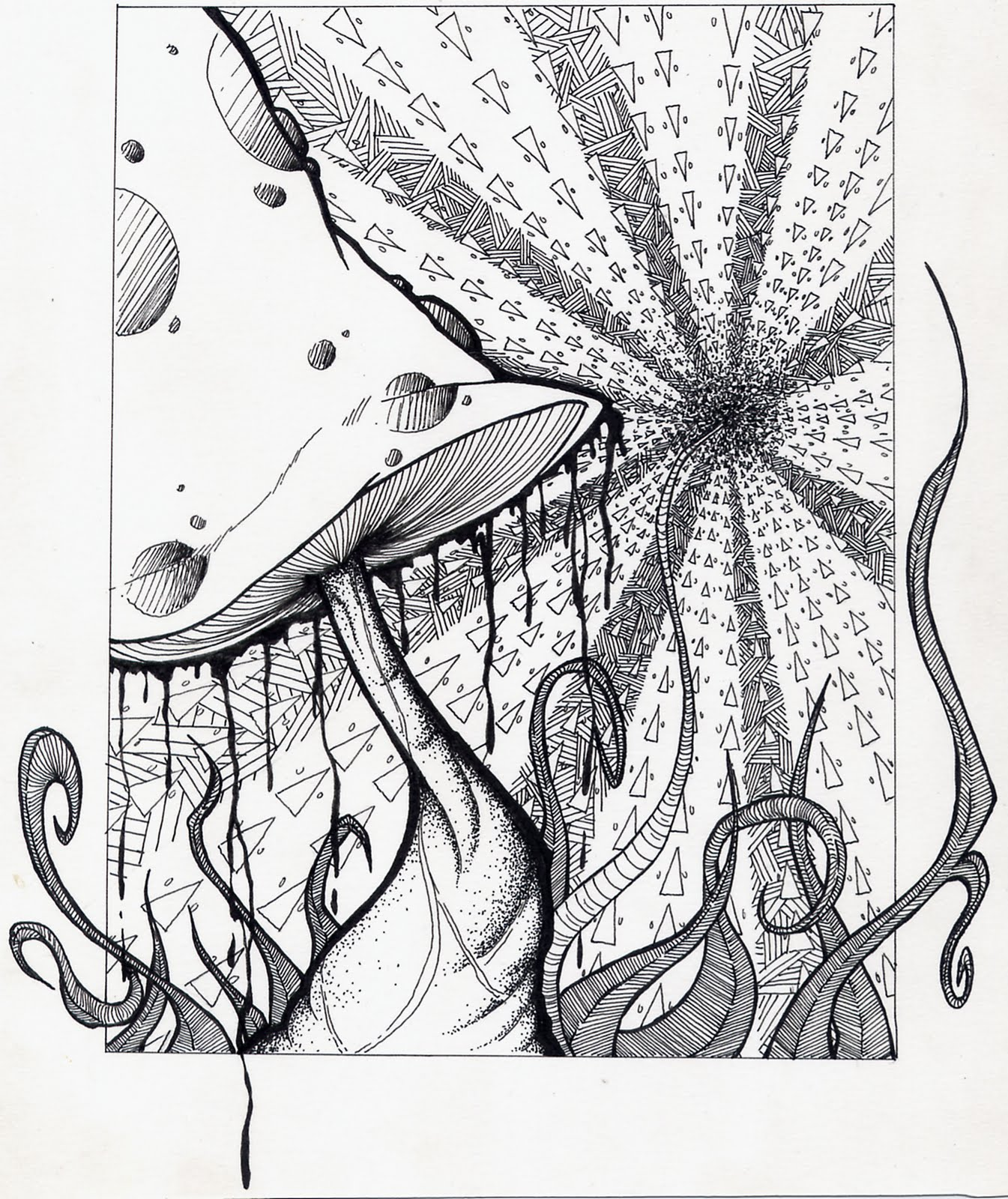 trippy coloring pages mushrooms health - photo#23
