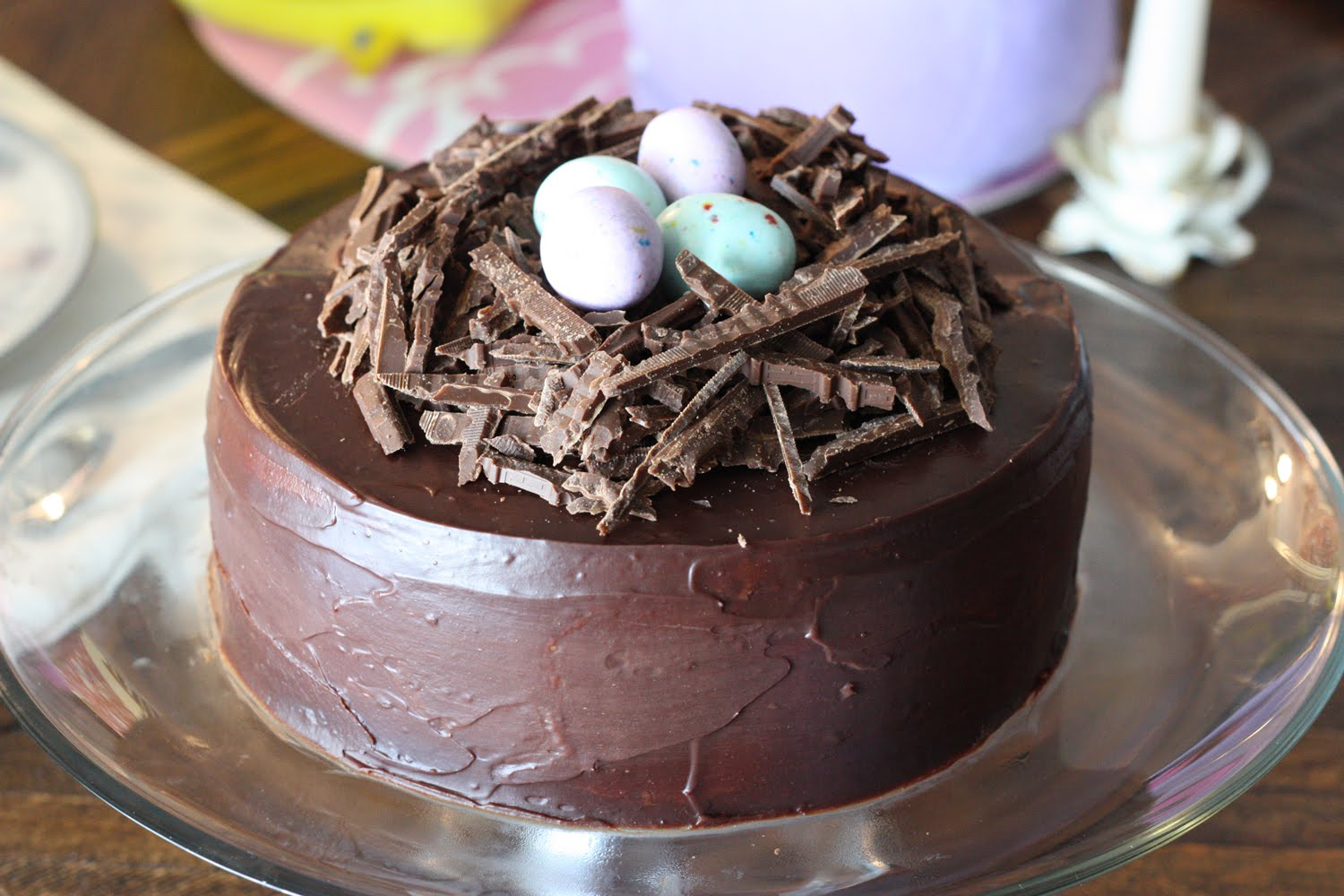 Bird nest chocolate cake recipe