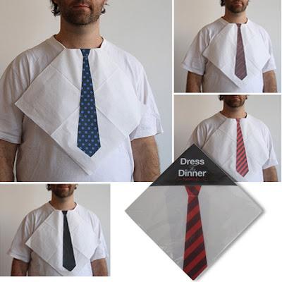 Guardanapos com imagem de gravata impressa