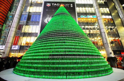 Unique Architecture - Christmas Tree Made from 1,000 Beer Bottles