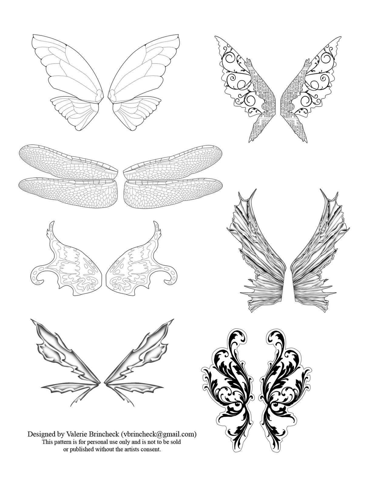Fairy Wings Drawings