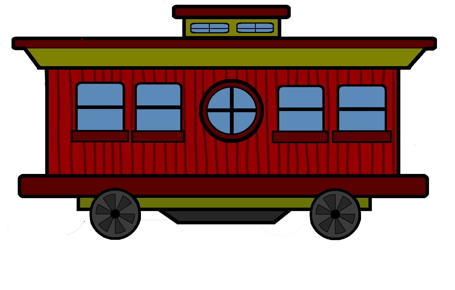 Train Caboose Template Train Caboose Coloring Pages