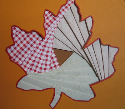 fall handmade card: iris folding – paper craft tutorial for fall leaf