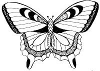 аппликация из бумаги бабочка