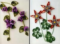 Цветы из бумажных лент