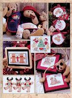 Ещё схемы для вышивания мишек Тедди вы найдёте. платочки.  История развития стиля плюшевых мишек.