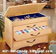 рукодельный ящик для хранения ниток мулине