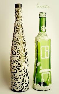 декорируем бутылку