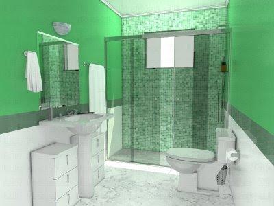 banheiro pequeno 2 Banheiros simples e lindos