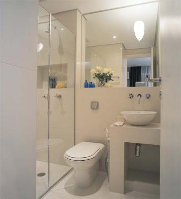 banheiro pequeno1 Banheiros simples e lindos
