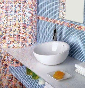 banheiro+colorido Banheiros simples e lindos