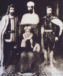 A rare photo taken of Madame Blavatsky with Masters Kuthumi, El Morya & St. Germaine.