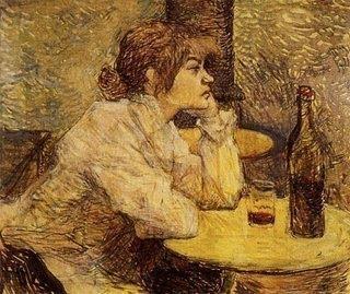 mulher bebendo lautrec