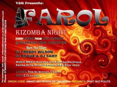 Kizomba Nights, playing the best Kizomba, Zouk, Semba, Merengue, Samba, Axe, Soukous, RnB and Slow Jams, Ladies Free B4 Midnight