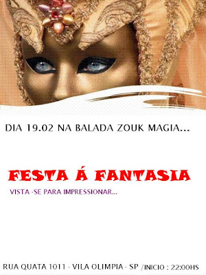 Balada Zouk Magia - Festa A Fantasia - SP
