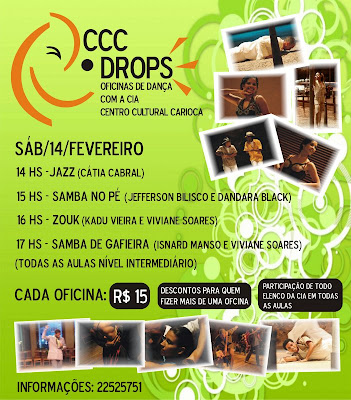 CCC Oficinas de Danca com a Cia Centro Cultural Carioca
