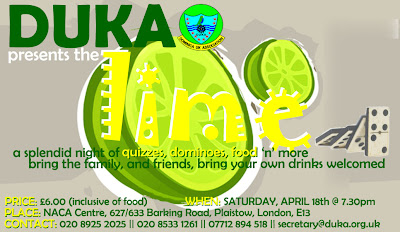 DUKA (Dominica United Kingdom Association) presents Lime a night of Family and friends - London