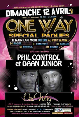 One Way -  artistes invites - Phil Control et Daan Junior
