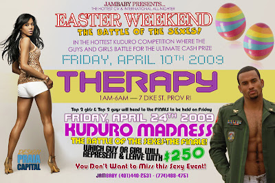 Therapy - Easter Weekend, Kuduro Madness - Battle of the Sexes