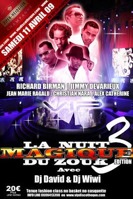 La Nuit Magique du Zouk avec Dj David & Dj Wiwi
