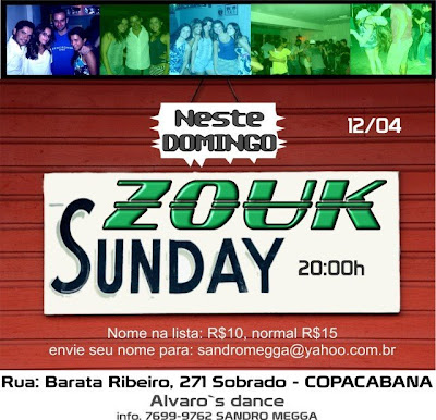 Zouk Sunday - Domingo em Copacabana