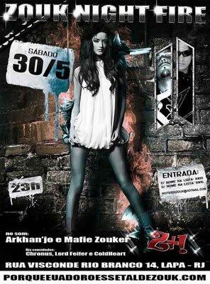Zouk Night Fire with Djs Mafie Zouk and Arkhan'jo