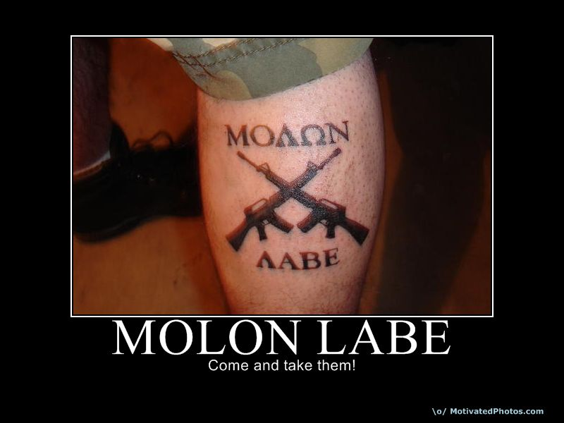 Molon Labe Tattoo - Page 2 | Molon Labe Tattoo - Page 3 | Molon Labe Tattoo