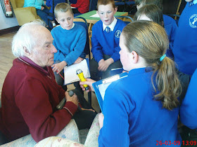 Bing Hoskin interviewed by Connor Downs School children