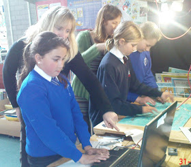 Hayle Area School children create their animation film about Hayle Regatta