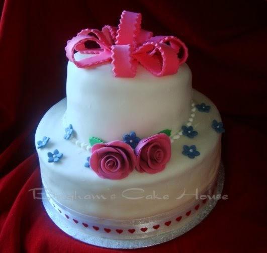 Brighams Cake House: Valentines Birthday Cake